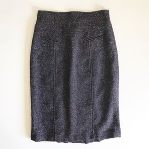 Nanette Lepore Wool Blend Kick Pleat Skirt Sz 6
